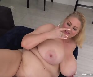 21:49 , Busty Blonde Plumper, Samantha Is Getting Fucked Hard Unaffected by The Sofa..