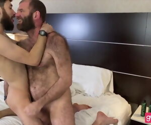 30:02 , Bearded Hirsute Dad-Hairy Arse Son: BJ-RIM-BB-SEEDING -FACIAL