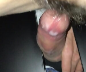 1:38 , My wife gets creampied within reach gloryhole
