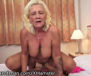 7:30 , LustyGrandmas Curvy Grandma Moans for Youthful Cock