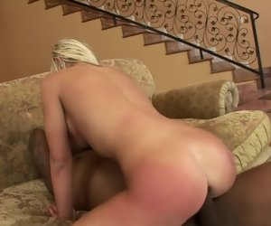 5:00 , Buxom Andi Anderson engages in rough anal sex with a black stallion