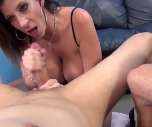 6:15 , Voluptuous nymphos drop to their knees and deliver wonderful blowjobs