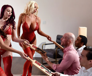 7:59 , Madison Ivy & Monique Alexander & Nicolette Shea & Johnny Sins in 1 800 Phone..