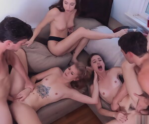 56:18 , College dorm mating party, upscaled nearly 4K
