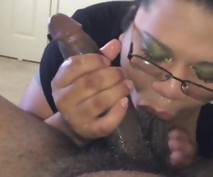 4:17 , Thick Chick With Glasses Sucking Ham something