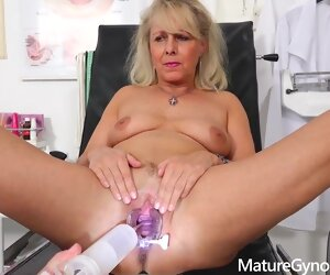 30:38 , Blonde granny, Koko takes off her clothes in her doctors office and asks for..