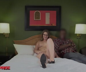 11:10 , 24 yo Nerd In Glasses Surprised & Fucked Away from A Big Black Cock
