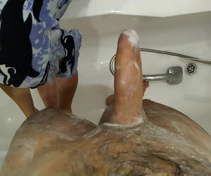4:46 , Mom washes her mature young gentleman added to jerks wanting his dick