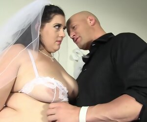 34:33 , Obese girl in a bridal dress banged hard