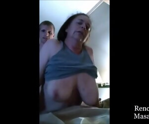 1:30 , Lustful Grandma Refused to let Young Cock Worm out