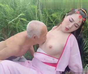 8:48 , Ancient costume, female par�sthesia tempts 70 year old farmer