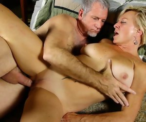 12:14 , Well-endowed sexy old spunker in the matter of kinky stewardess is such a hot..