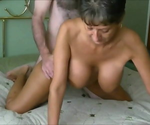 8:03 , Fit Granny's Cunt Aches for Young Cock