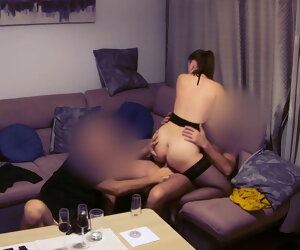 6:19 , Wife has romantic date with lover, tighten one's belt joins and films